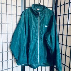 Nike VTG White tag green full zip windbreaker XXL